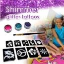 تاتو موقت اکلیلی شیمر - glitter tattoo kit
